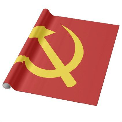 Russian Hammer and Sickle Glossy Wrapping Paper - wrapping paper custom diy cyo personalize unique present gift idea