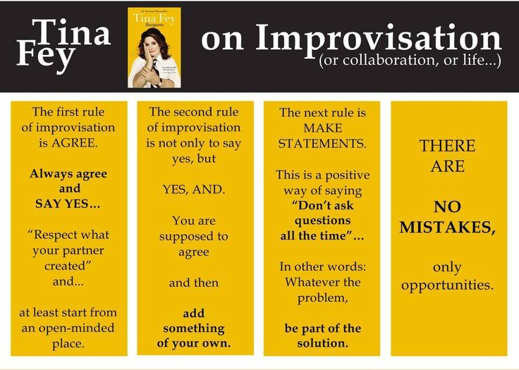 Image result for rules of improv tina fey""