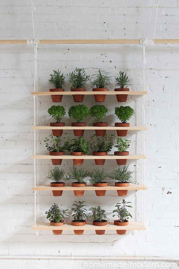 This weekend, get a jump on your springtime gardening with this DIY hanging garden tutorial from HomeMade Modern!