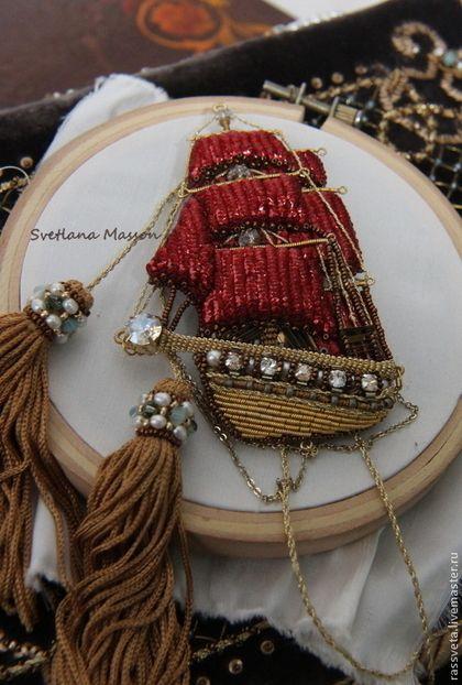 Алые паруса вышивка лентами