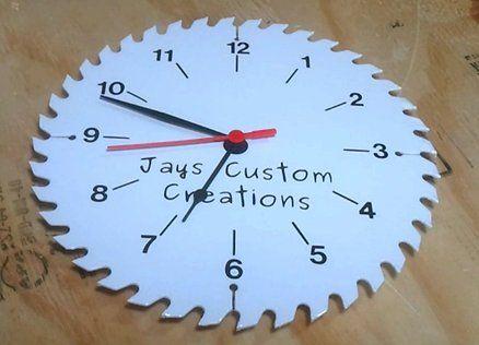 Saw Blade Clock | Jays Custom Creations