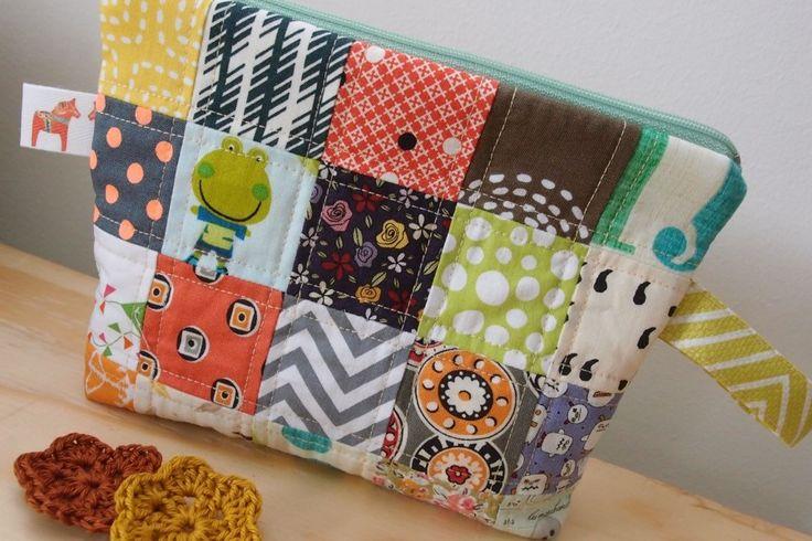 Patchwork pouch... love of colors!   www.vjahodovce.blogpost.com