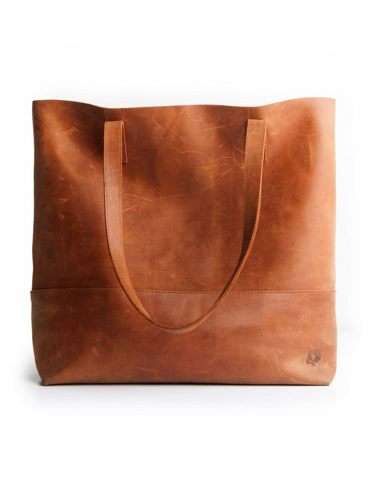 Mamuye leather tote, hand-crafted in Ethiopia | fashionABLE: