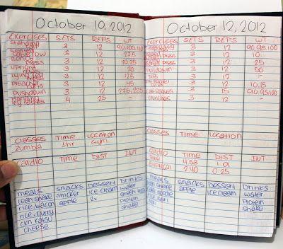 DIY: Workout Log Book | D.G.S.Beauty @Jolie Rozema Rozema Dyals @Christa Vickers Vickers Marchant excellent idea!!