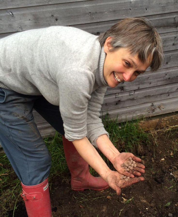 Mis-sharpen seedballs! Thank you @seed_ball. Not #guerilla gardening here though. #Lymington infants @GrowWildUK.