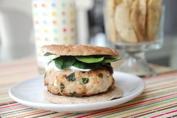 Skinny Greek Turkey Burgers - so very very delicious! Something we make at least once a month in the summer.