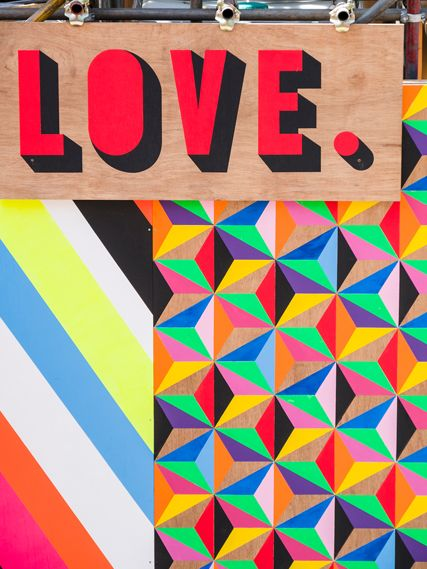 In a world where minimalism has taken over, Morag Myerscough's projects come alive to add color to the spaces.