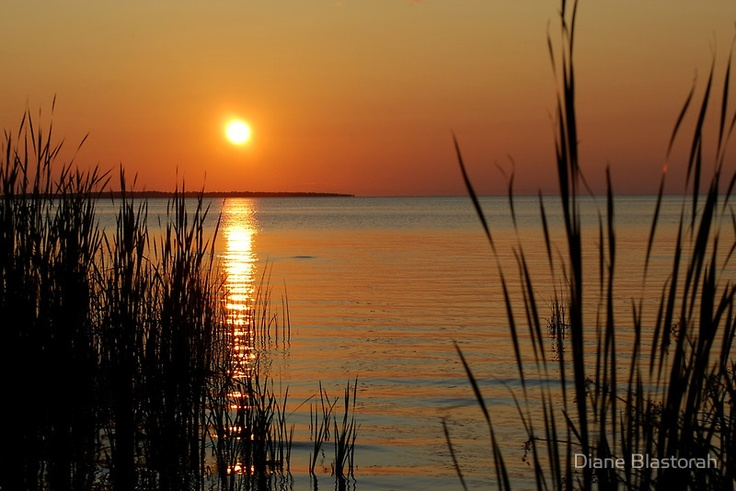 I love sunsets, especially those over Lake Nipissing in North Bay.  (photo by Diane Blastorah)