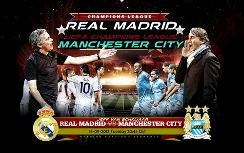 Real Madrid vs. Man City Or more like Mourinho vs Mancini    UEFA Sep 12