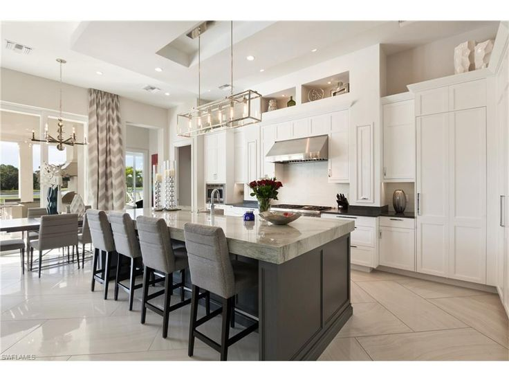 Beautiful 4141 Brynwood Dr, Naples, FL 34119 | White Contemporary Eat In Kitchen With  Large