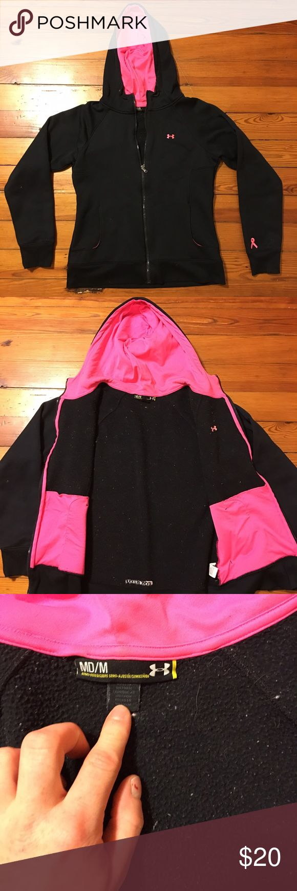 Under Armour Lightweight Jacket💞 Very cute limited addition breast cancer awareness Under Armour jacket💞 Worn a few times but in VERY good condition. The material is warm and water resilient💙 Under Armour Jackets & Coats Puffers