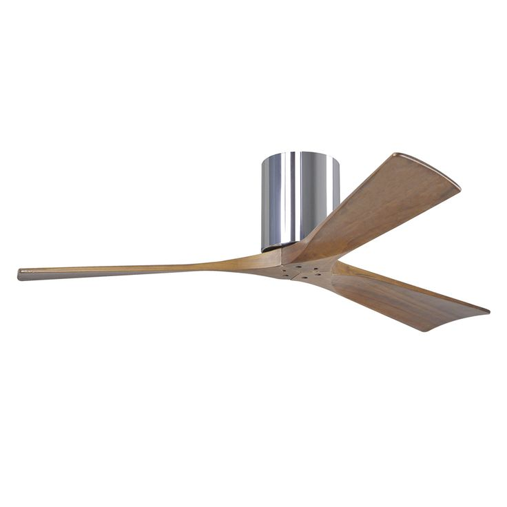 Matthews Irene 52-in Chrome Flush Mount Indoor/Outdoor Ceiling Fan with Remote (3-Blade) $563