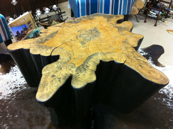 Cypress Coffee Table $995 Coffee Table Made From The Stump Of A Cypress Tree.  Each