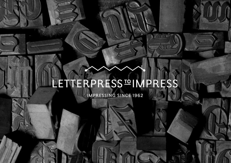 Letterpress to Impress logo by Fletcher Creative. #branding #letterpress #logo #identity #icon #creative #graphicdesign #design #designstudio #fletchercreative