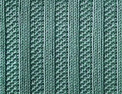 Knitting Galore: Saturday Stitch : Moss Stitch Ribs
