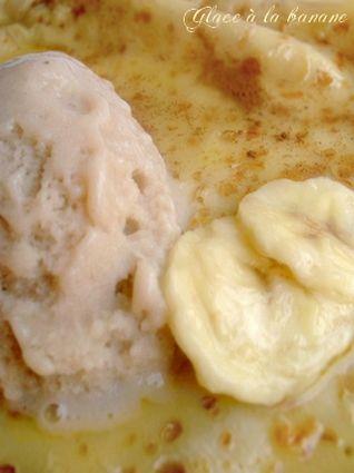 Glace à la banane maison (avec sorbetière)