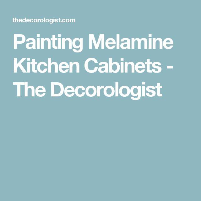 Refinishing Melamine Kitchen Cabinets: Best 25+ Painting Melamine Ideas On Pinterest