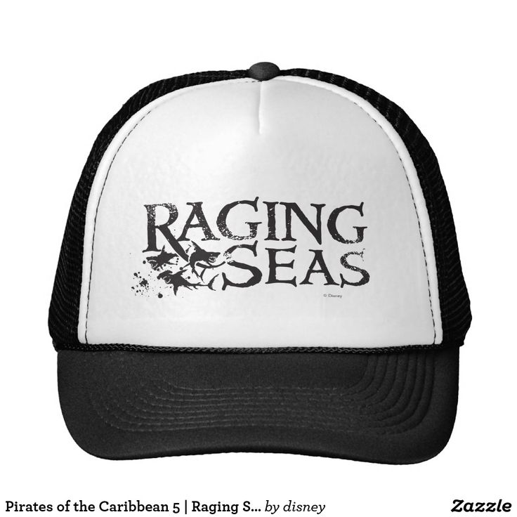 Pirates of the Caribbean 5   Raging Seas Black. Customizable product available in Zazzle store. Producto personalizable disponible en tienda Zazzle. #gorra #hat