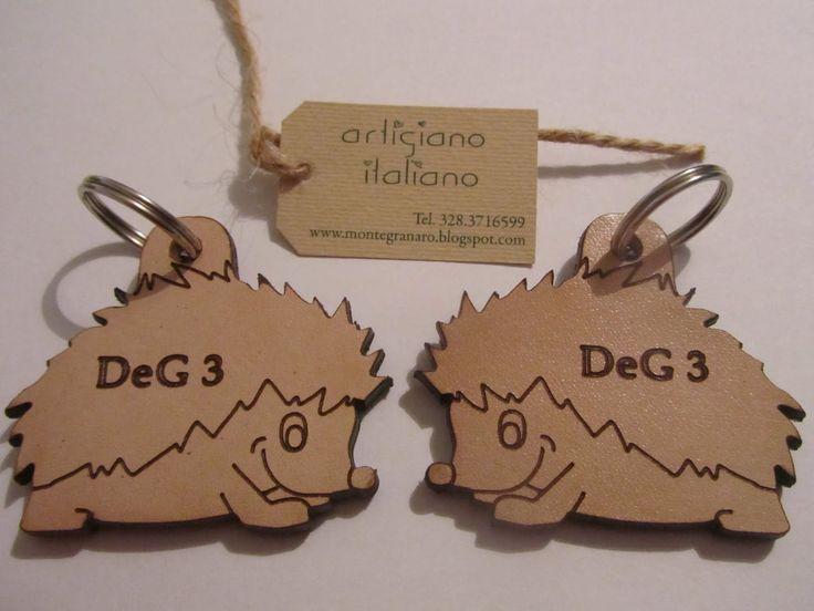 Portachiavi artigianali in cuoio pelle e legno