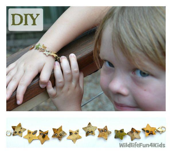 Leaf Star Punched Bracelet | Wildlife Fun 4 Kids