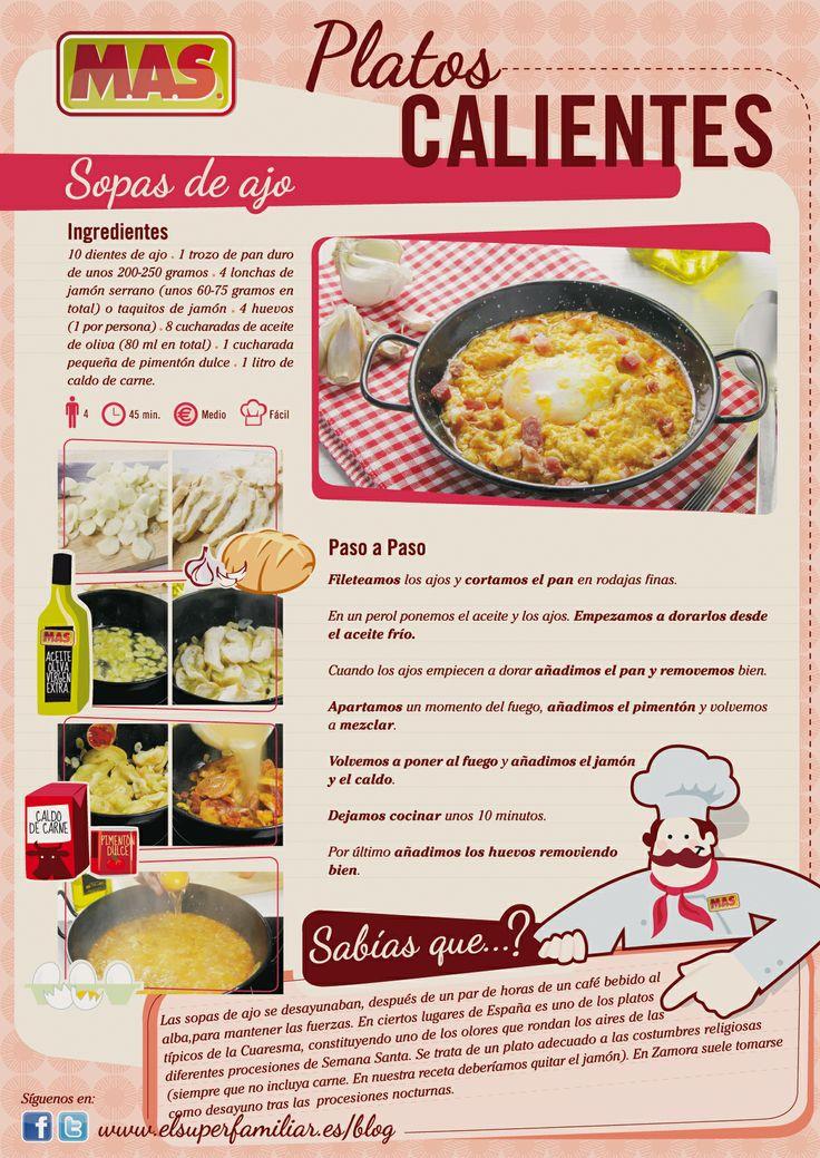 tradicional sopa de ajo