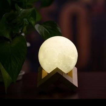 Small 3D Moon Light LED Mini Night Lamp for Room - WHITE