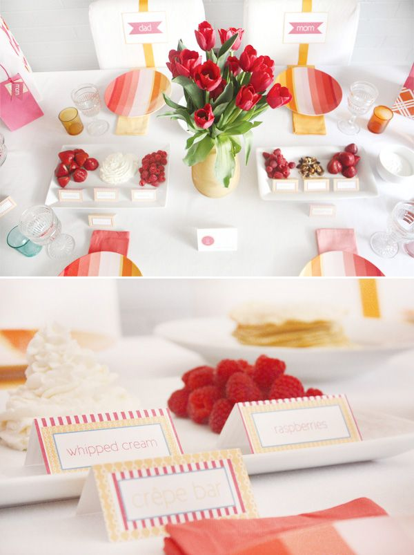 mother's-day-brunch-crepe-bar: Fantastic Ideas, Gifts Ideas, Party'S Celebrity Ideas, Parties Ideas Them, Fun Ideas, Parties Celebrity Ideas