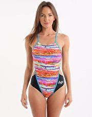 Michael Phelps Dominio Swimsuit - Black and Pink Multi Be seen on the blocks or in the pool wearing the new MP Domino Swimsuit which is chlorine proof and ideal for squad or club training http://www.MightGet.com/january-2017-13/michael-phelps-dominio-swimsuit--black-and-pink-multi.asp