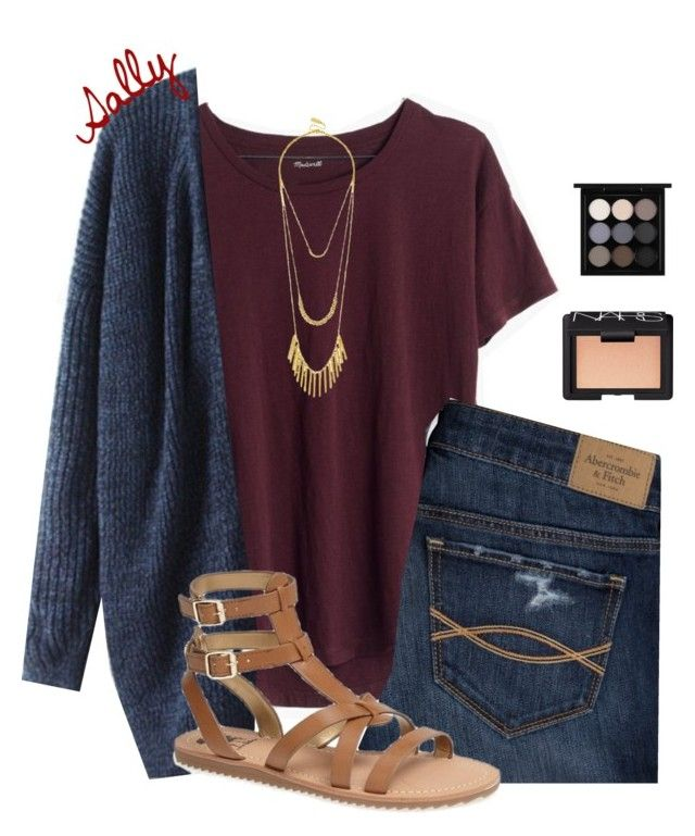 """""""Going to Gettysburg tomorrow!"""" by sc-prep-girl ❤ liked on Polyvore featuring Madewell, Abercrombie & Fitch, NARS Cosmetics, BaubleBar, MAC Cosmetics and Sam Edelman"""