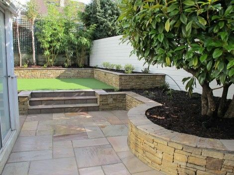 24 best images about split level back gardens on pinterest for Split level garden designs
