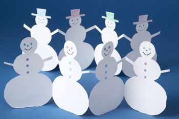 Paper snowman chain -- great for 4 year olds and up