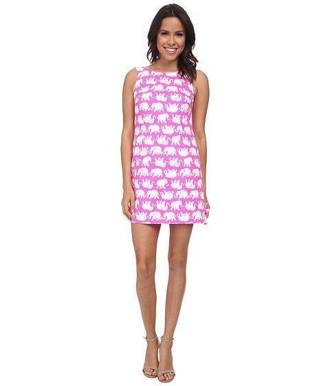 Лилли Пулитцер Делия сдвиг платье Поп-розовый - Zappos.com Бесплатная доставка в обоих направлениях