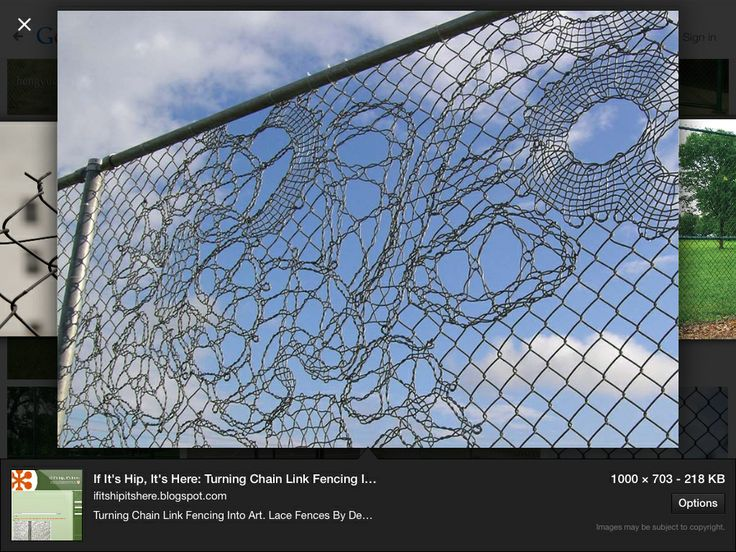 48 Best Images About Chain Link Fence Art On Pinterest