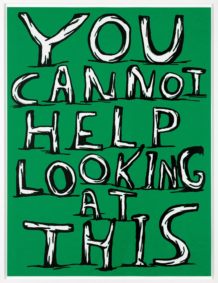 You cannot help looking at this - David Shrigley #dogood