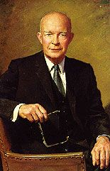 Portrait of Dwight Eisenhower - the 34th Pres.