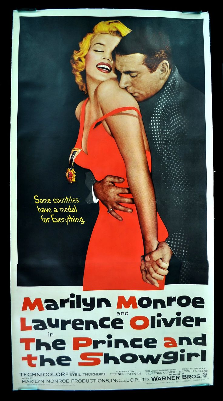 The Prince and the Showgirl starring Marilyn Monroe and Lawrence Olivier, 1956