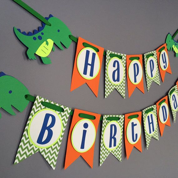 Boys Birthday Banner Dinosaur Birthday Decorations Dino