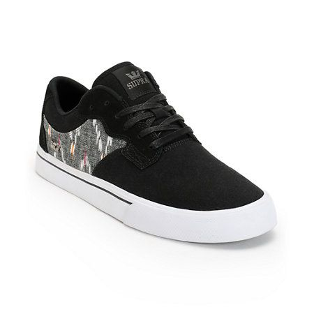 Supra Axle Black, Desert, & White Canvas Skate Shoe