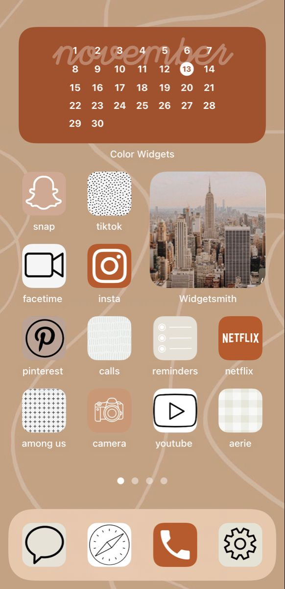 Brown Ios 14 Wallpaper Ios 14 Wallpaper Wallpaper App Iphone Home Screen Layout