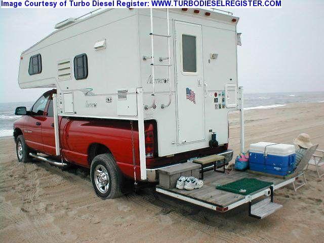 RV.Net Open Roads Forum: Truck Campers: rear steps