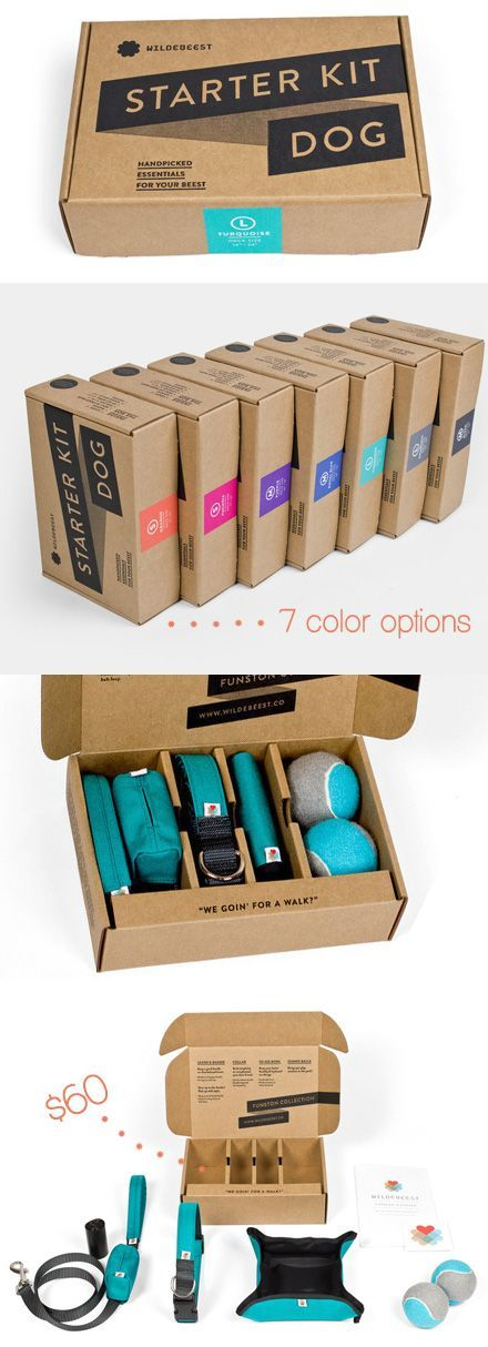 Minimal, recyclable packaging AND everything you need to start your new life as a dog owner.: