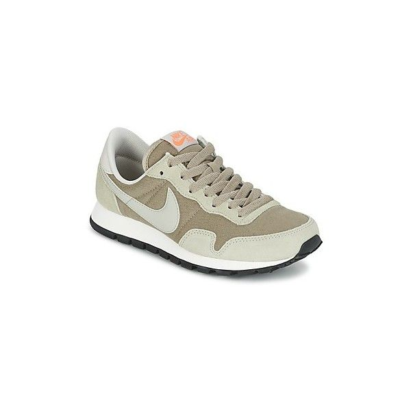 Nike AIR PEGASUS '83 W Shoes (Trainers) (€75) ❤ liked on Polyvore featuring shoes, sneakers, beige, trainers, women, nike footwear, leather shoes, beige sneakers, leather trainers and leather sneakers