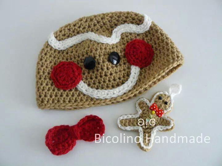 Gingerbread baby crochet hat