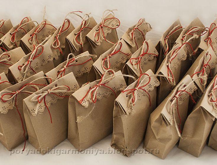 Пакеты из крафт бумаги своими руками
