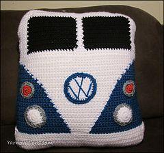 VW Van pillow -  Free Crochet Pattern