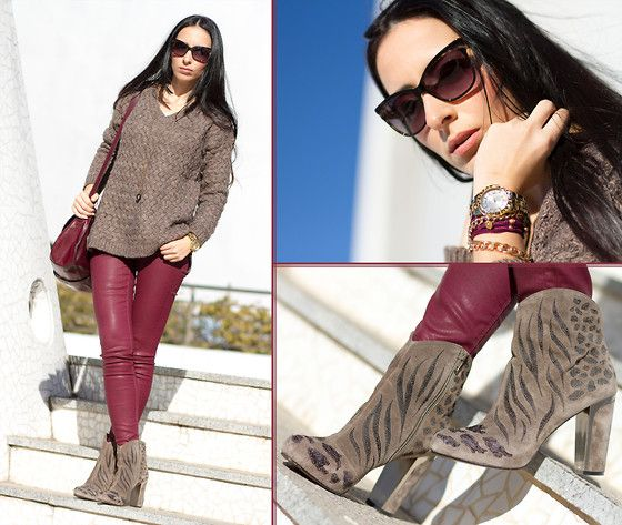 Rebeca Sanver Suede Ankle Boots, Guess? Watch Fiercely Model  U0014 L2, Christian Dior Sunglasses Sauvage2