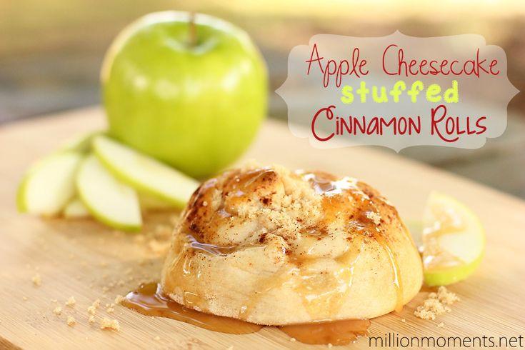 apple cheesecake stuffed cinnamon rolls