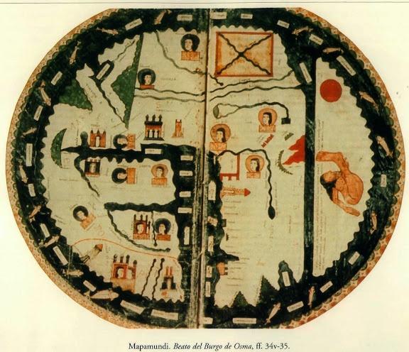 Cartografía de la Alta Edad Media | Mapamundi. Beato del Burgo de Osma.
