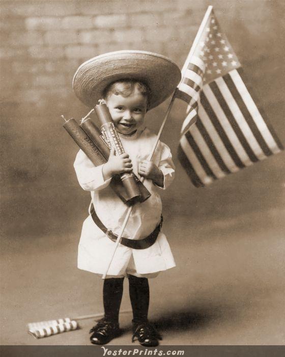 Antique Photo - Fireworks