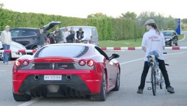 This Bicycle Ride Races With A Ferrarri And You Won't Believe On Results.